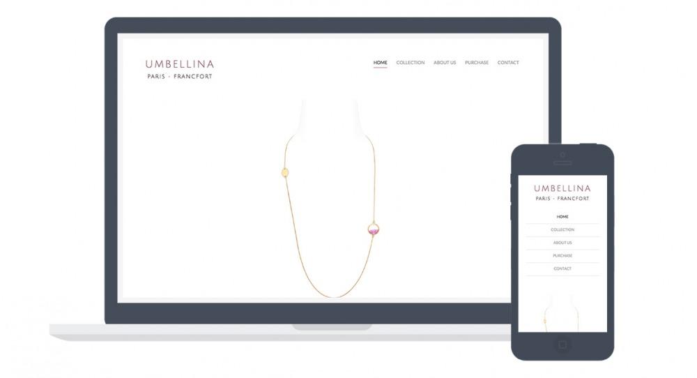 Screenshots einer Website mit neben- und übereinander angeordneten Menüpunkten
